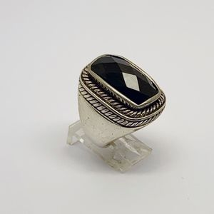 sterling silver onyx ring #19